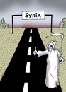 Cartoon: Hitchhikers Guide to Syria (small) by Dubovsky Alexander tagged hitchhikers,guide,to,syria,war