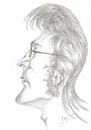 Cartoon: caricature John Lennon (small) by cabap tagged caricature
