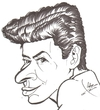 Cartoon: Eddie Fisher (small) by cabap tagged caricature