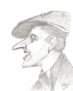Cartoon: Vittorio De Sica (small) by cabap tagged caricature