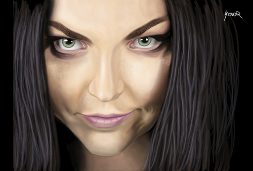Cartoon: Amy Lee (medium) by szomorab tagged lee,amy,evanescence,rock,goth,music,metal
