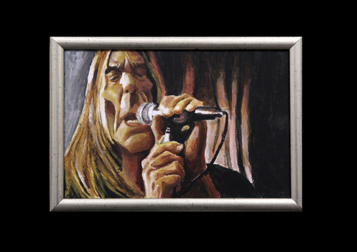 Cartoon: Iggy Pop acrylic (medium) by szomorab tagged iggy,pop,stoogees,godfather,of,punk,rock,music,alternative