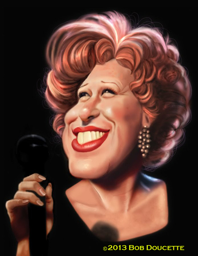 Cartoon: Bette Midler (medium) by tobo tagged bette,midler