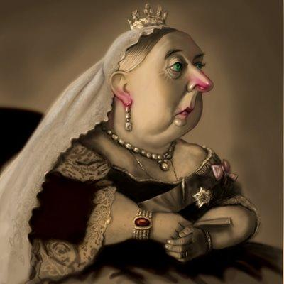Cartoon: Queen Victoria (medium) by tobo tagged caricature