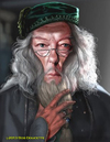 Cartoon: Dumbledore (small) by tobo tagged harry,potter