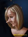 Cartoon: J. K. Rowling (small) by tobo tagged jk,rowling,caricature