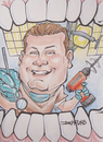 Cartoon: dr. guzik (small) by dumo tagged dentist,drill,caricature,color
