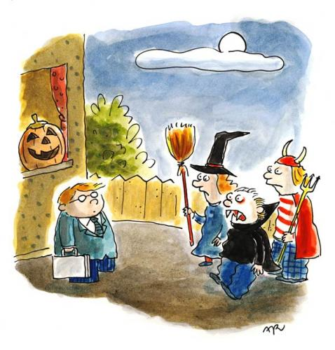 Cartoon: Halloween (medium) by ari tagged manager,drakula,teufel,hexe,gespenst,plikat,horror,grusel,verkleidung,kürbis,kostüm,kinder,halloween