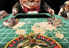 Cartoon: game over (small) by Rainer Ehrt tagged banken,euro,europa,dollar,finanzkrise,staatsfinanzen,spekulation