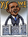 Cartoon: Obama (small) by Rainer Ehrt tagged obama,voting,usa,demokraten,republikaner,wahlen,wahlversprechen,demokratie,präsident,white,house
