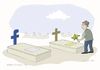 Cartoon: Facemetery (small) by Wilmarx tagged facebook,death,addiction
