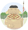 Cartoon: PizzaPitch Botocudo Brazilindian (small) by Wilmarx tagged pizzapitch,indian,brazilian,botocudo