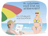 Cartoon: The mathematics of desire (small) by Wilmarx tagged summer,beach,graphics