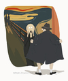 Cartoon: The Origin of The Scream (small) by Wilmarx tagged famous,painting,scream,exhibitionist