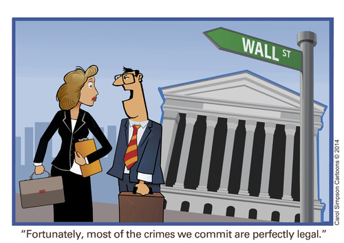 Cartoon: Wall Street Crimes (medium) by carol-simpson tagged wall,street,crimes,finance