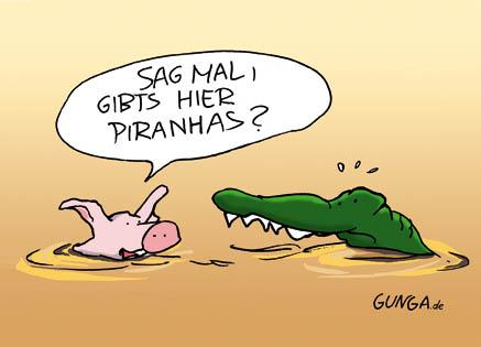 Cartoon: Piranhas (medium) by Gunga tagged piranhas