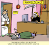 Cartoon: no go  faschingskostüm (small) by leopoldmaurer tagged fasching,patient,arzt,ordination,gott,tod