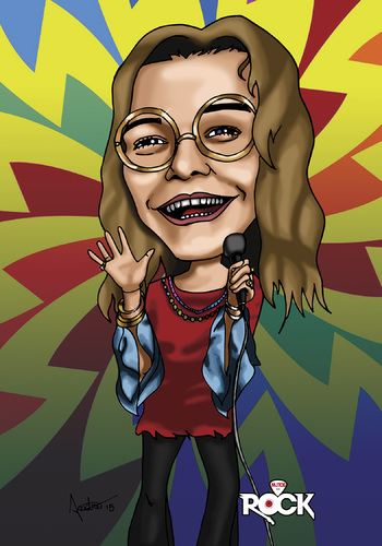 Cartoon: Janis Joplin (medium) by mitosdorock tagged rock,janis,joplin