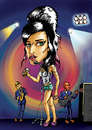 Cartoon: AMY WINEHOUSE (small) by mitosdorock tagged amy,winehouse,caricatura,mitos,rock