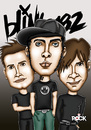 Cartoon: blink 182 (small) by mitosdorock tagged blink,182