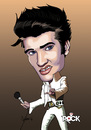 Cartoon: ELVIS PRESLEY CARICATURE (small) by mitosdorock tagged king,rock,elvis,presley,caricature