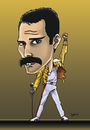 Cartoon: FREDDIE MERCURY (small) by mitosdorock tagged fredie,mercury,queen,mitos,do,rock
