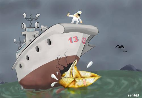 Cartoon: Seamen (medium) by Senad tagged seamen,bosnia,bosna,karikatura