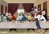 Cartoon: Last Supper (small) by Senad tagged senad,nadarevic,bosnia,cartoon,karikature