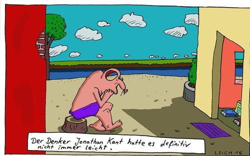 Cartoon: Jonathan (medium) by Leichnam tagged jonathan,kant,denker,definitiv,nicht,leicht