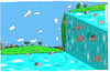Cartoon: Hausbergkante (small) by Leichnam tagged hausbergkante,wasserkante,schwimmen,freizeit,hitze,planschen,leichnam,leichnamcartoon