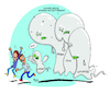 Cartoon: Corona Halbstarke (small) by Trantow tagged corona,virus,influenza,grippe,krankheit,epidemie,geist,gespenst