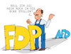 Cartoon: Politikecke (small) by Trantow tagged sondierung,wahl,fdp,lindner,berlin,politik