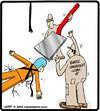 Cartoon: Bungee spatula (small) by cartertoons tagged bungee fall spatula emergency