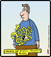 Cartoon: Eclectic Necklace (small) by cartertoons tagged religion,spirituality,god,philosophy,jewelry,symbols
