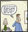 Cartoon: English Language Hotline (small) by cartertoons tagged customer,service,phones,english,language,automation,menus