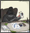 Cartoon: From the desk of Darth Vader (small) by cartertoons tagged darth,vader,office,letter,opener,desk