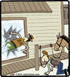 Cartoon: Horse Kick (small) by cartertoons tagged horse,kick,cowboy,saloon,western