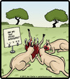 Cartoon: Kill Feedback (small) by cartertoons tagged animals,lions,africa,feedback,customer,surveys