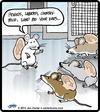 Cartoon: Mouse Listeners (small) by cartertoons tagged mouse,mice,lab,rats,experiments,shakespeare,genetics