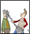 Cartoon: Moustache Finder (small) by cartertoons tagged moustaches,facial,hair,hobbies,detectors,surreal,technology