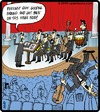 Cartoon: Orchestra crowd surfing (small) by cartertoons tagged orchestra,music,crowd,surf,audience,stage