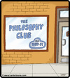 Cartoon: Philosophy Club (small) by cartertoons tagged philosophy,philosophers,clubs,organizations,computers,internet,wifi,access,signs,window,storefronts