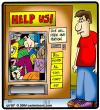 Cartoon: Vending People (small) by cartertoons tagged vending,machine,people,stuck,help
