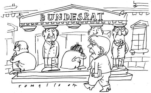 Cartoon: Bundesrat (medium) by Jan Tomaschoff tagged bundesrat