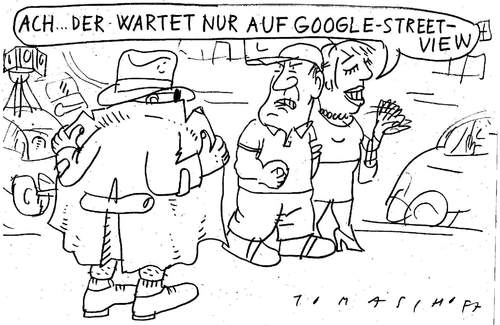 Cartoon: Google Street View (medium) by Jan Tomaschoff tagged google,street,view,google,street view,internet,web,fotos,kamera,überwachung,big brother,datenschutz,angst,exhibitionismus,stadt,city,karte,street,view,big,brother