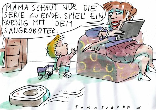 Cartoon: home (medium) by Jan Tomaschoff tagged kinder,kita,corona,epidemie,kinder,kita,corona,epidemie