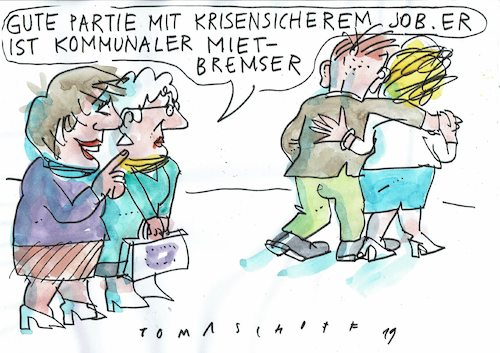 Cartoon: Mietbremser (medium) by Jan Tomaschoff tagged wohnungsnot,staat,wohnungsnot,staat