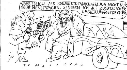 Cartoon: Schlämmer (medium) by Jan Tomaschoff tagged schlämmer,dienstwagen