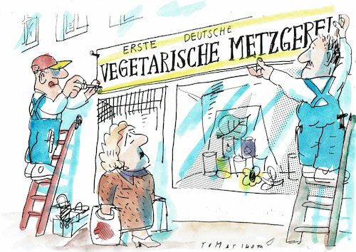 Cartoon: vegetarisch (medium) by Jan Tomaschoff tagged ernäherung,fleisch,vegetarisch,vegan,ernäherung,fleisch,vegetarisch,vegan