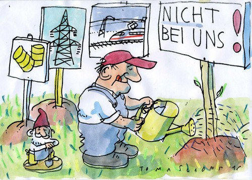 Cartoon: Wutbürger (medium) by Jan Tomaschoff tagged egoismus,egoismus